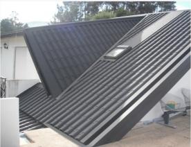 Panel teja en color albero y negro en stock