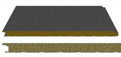 3 en 1: Panel Sándwich con aislamiento interior en lana de roca